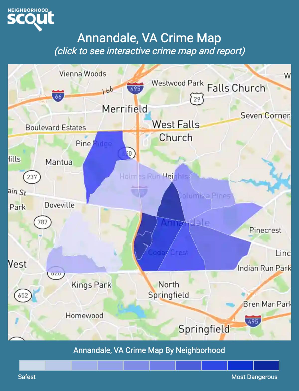 Annandale, Virginia crime map