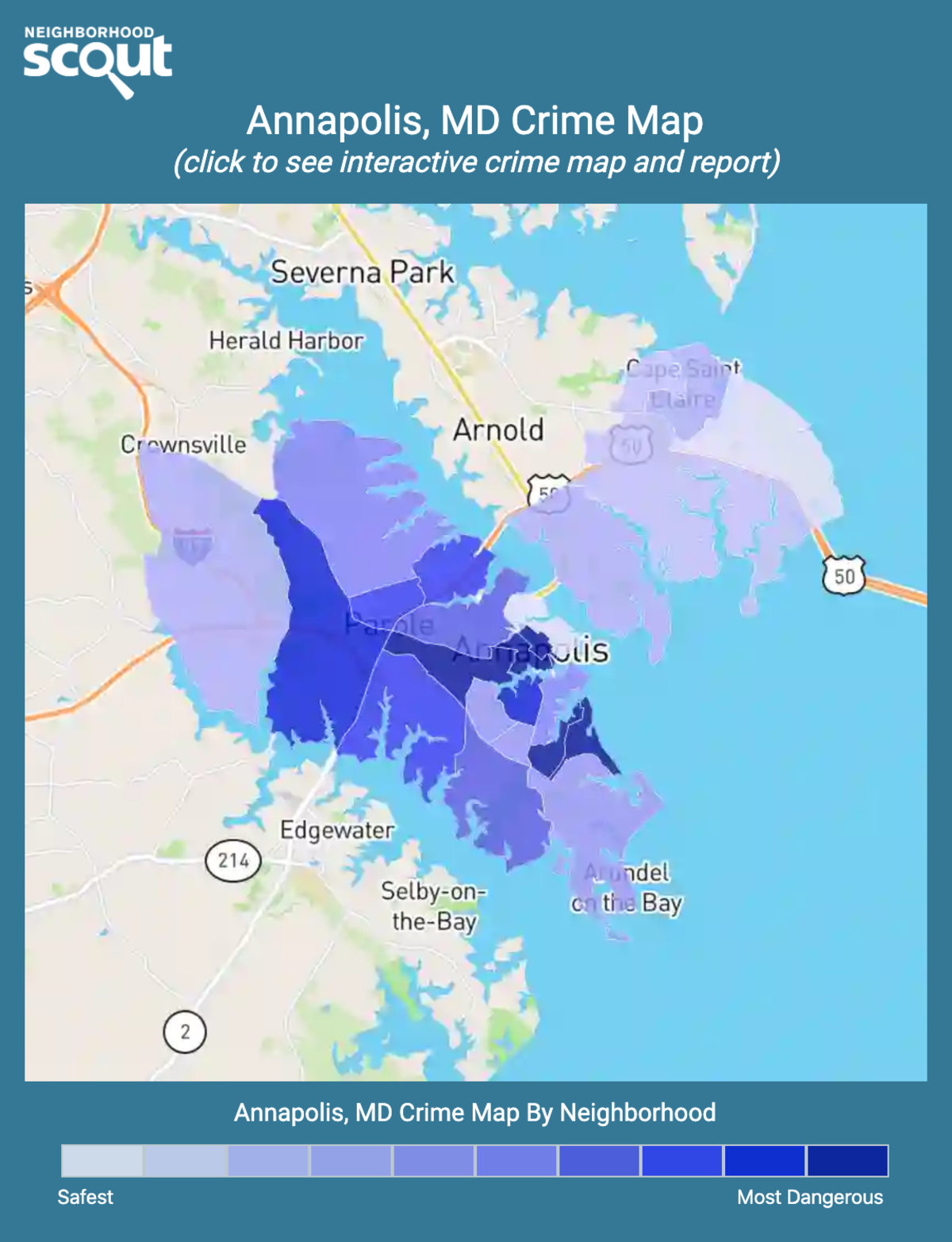 Annapolis, Maryland crime map