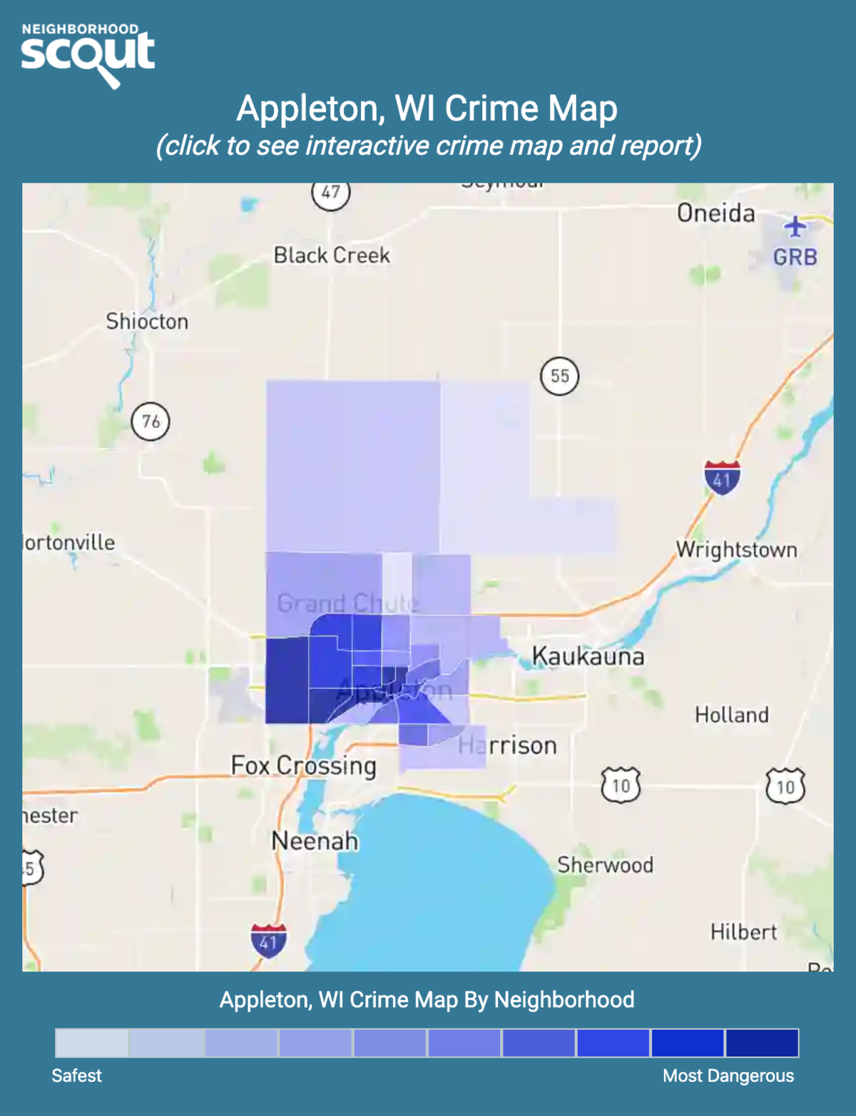 Appleton, Wisconsin crime map