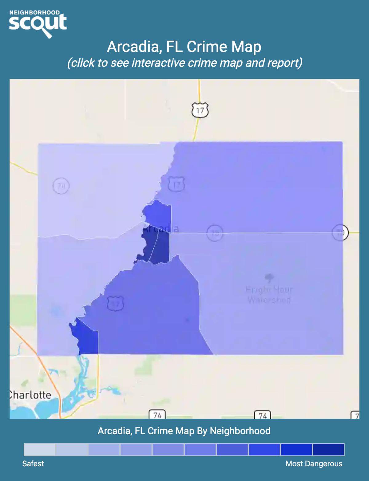 Arcadia, Florida crime map