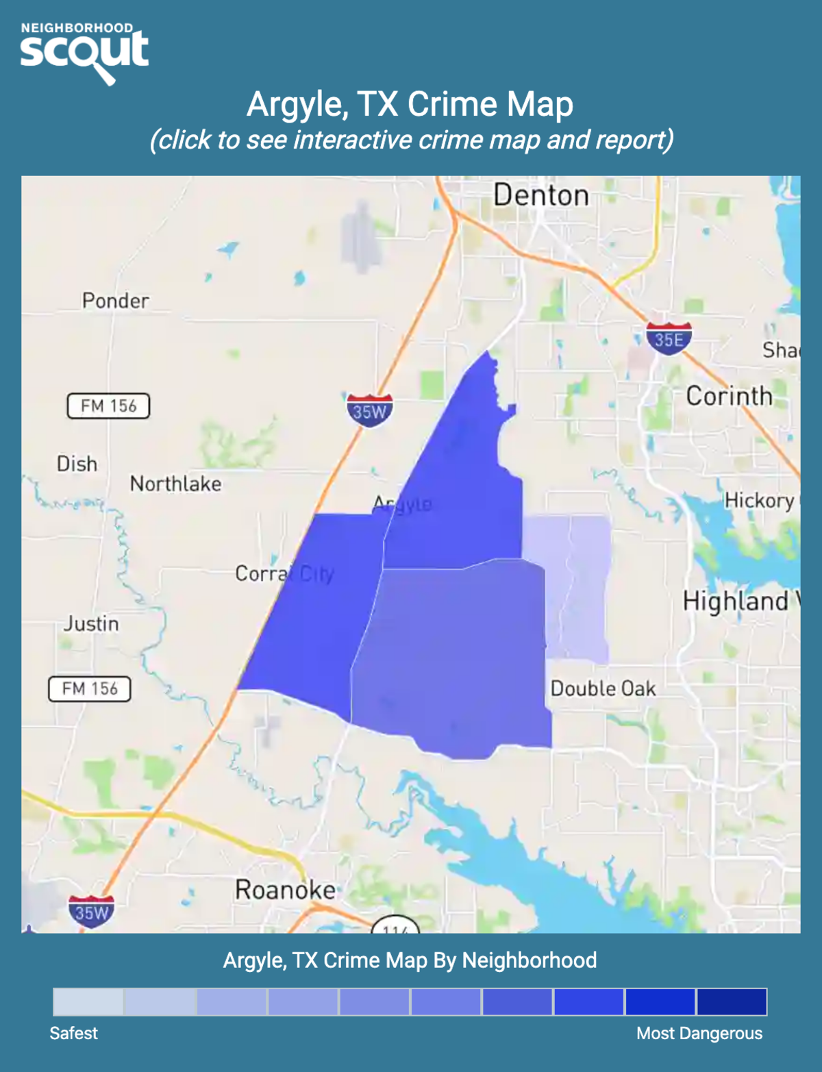 Argyle, Texas crime map
