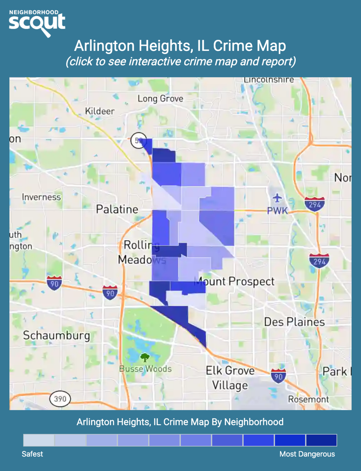 Arlington Heights, Illinois crime map