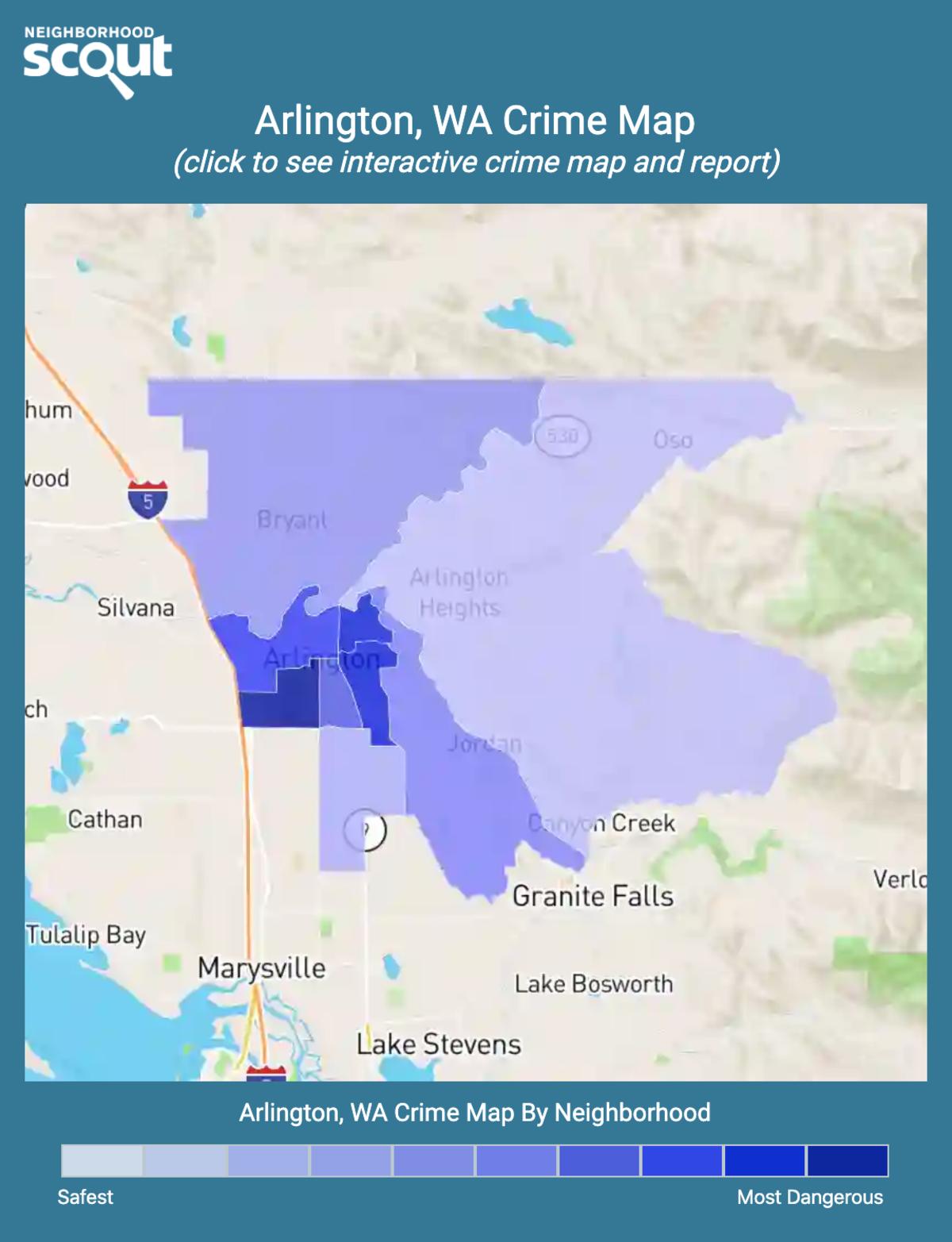 Arlington, Washington crime map