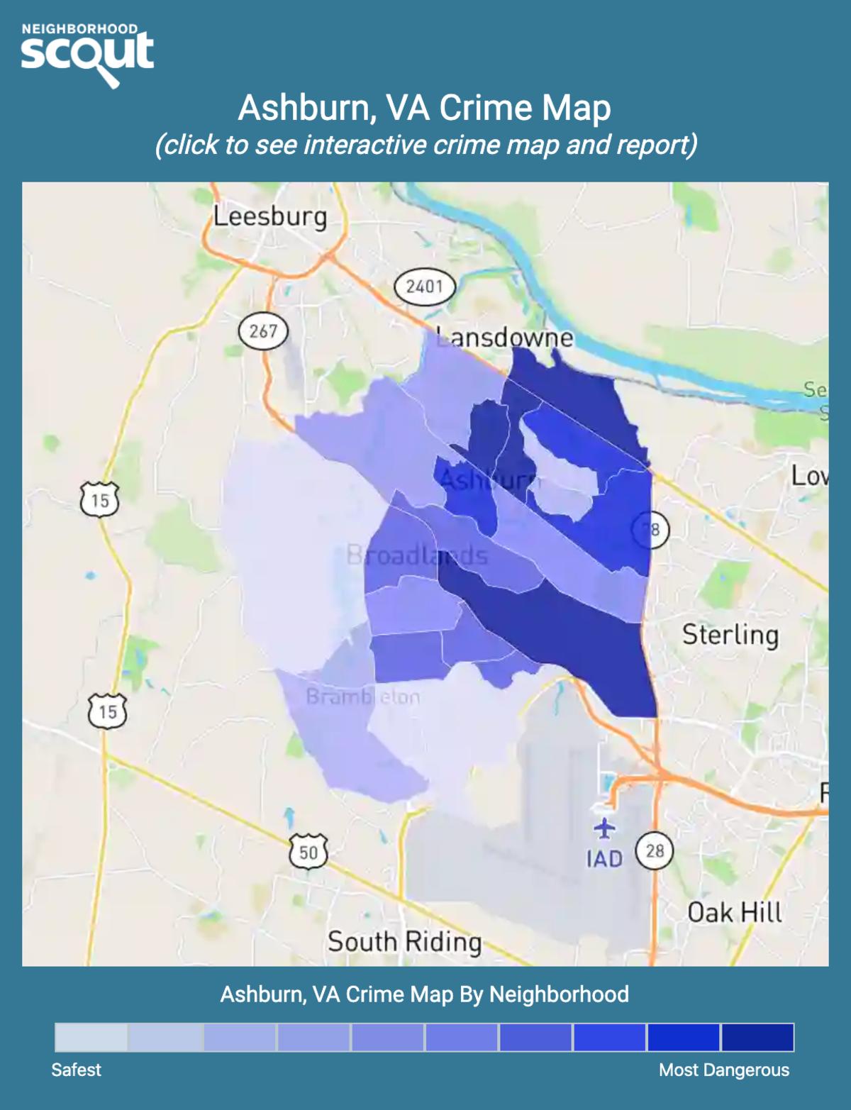 Ashburn, Virginia crime map
