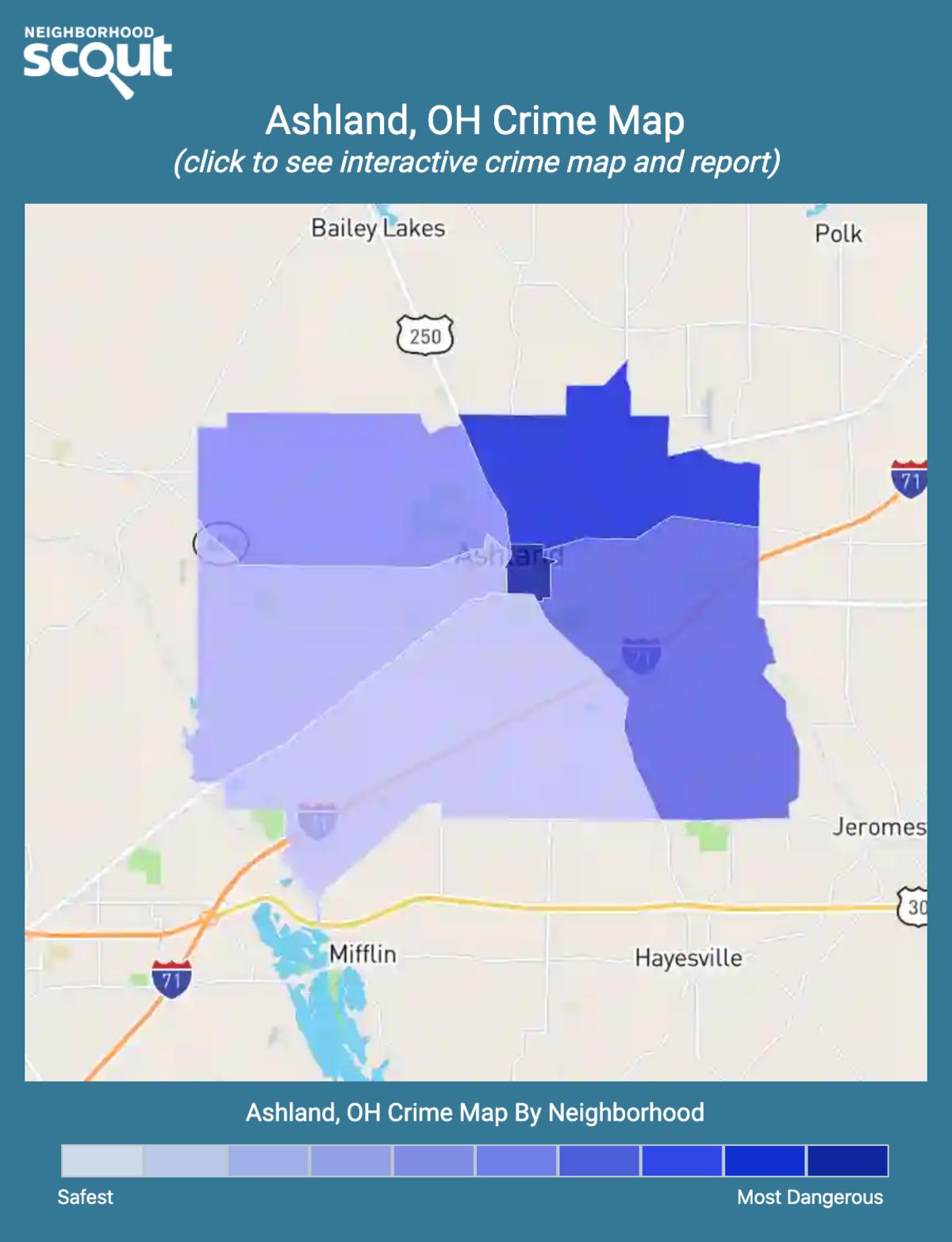 Ashland, Ohio crime map