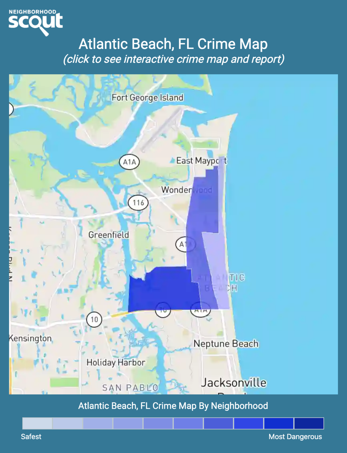 Atlantic Beach, Florida crime map