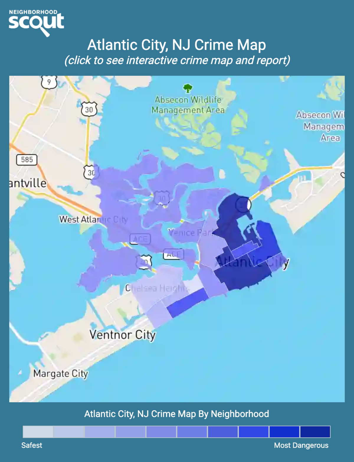 Atlantic City, New Jersey crime map