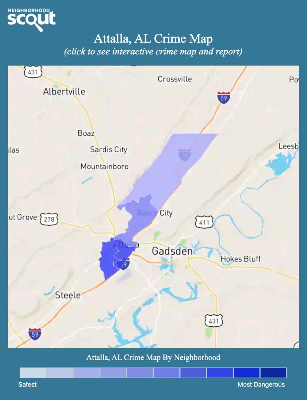 Attalla, Alabama crime map