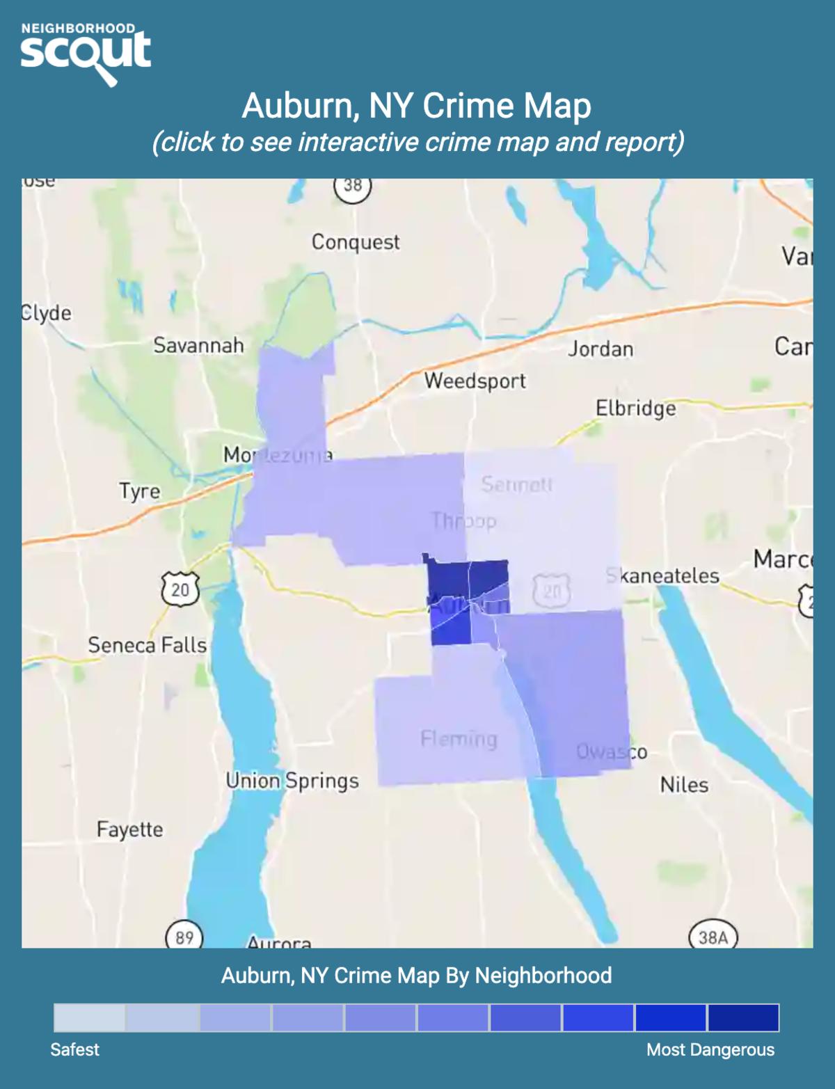 Auburn, New York crime map