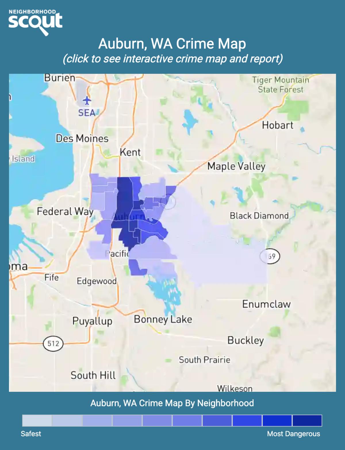 Auburn, Washington crime map