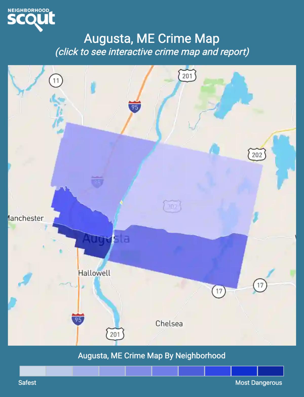 Augusta, Maine crime map