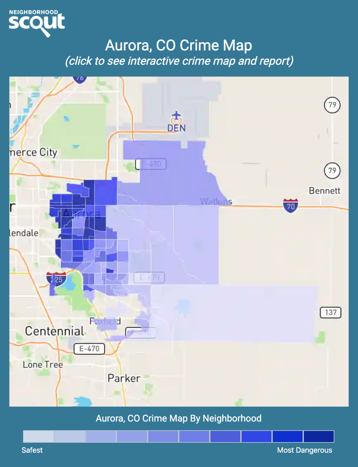Aurora, Colorado crime map