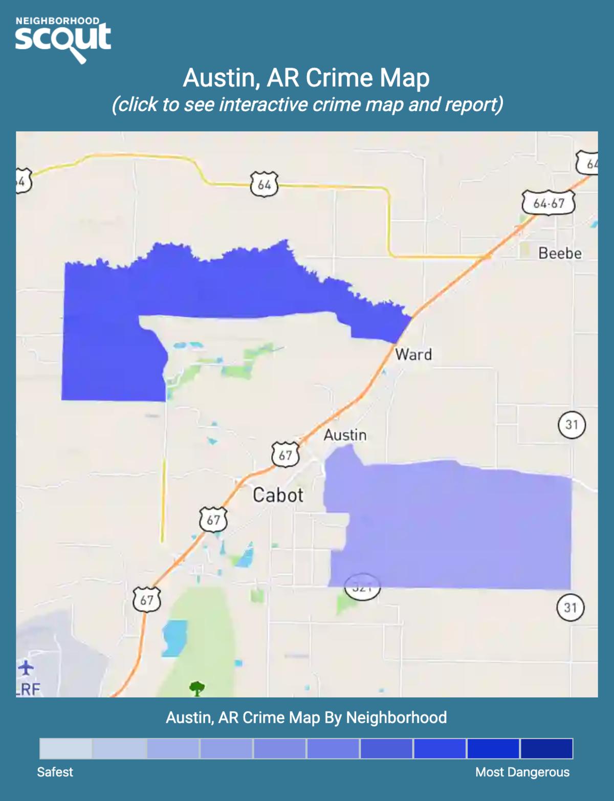 Austin, Arkansas crime map