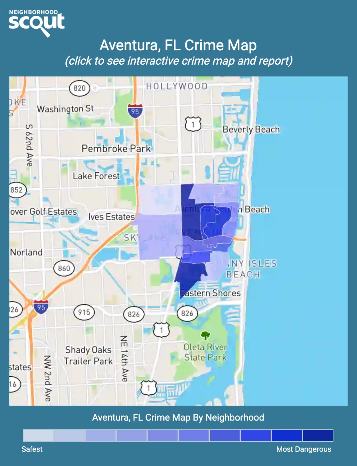 Aventura, Florida crime map