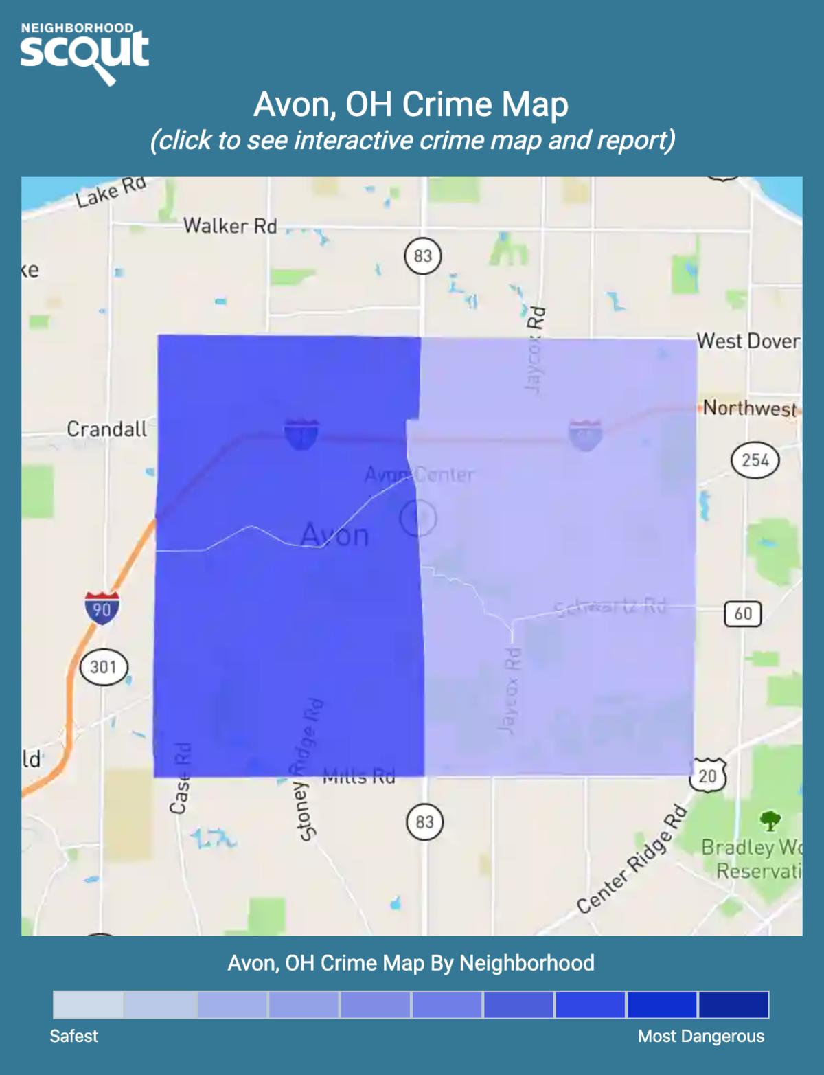 Avon, Ohio crime map