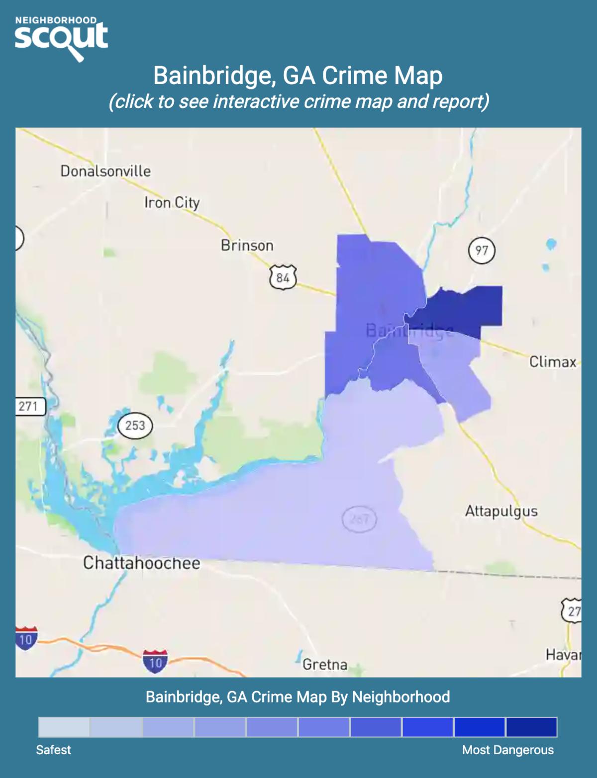 Bainbridge, Georgia crime map