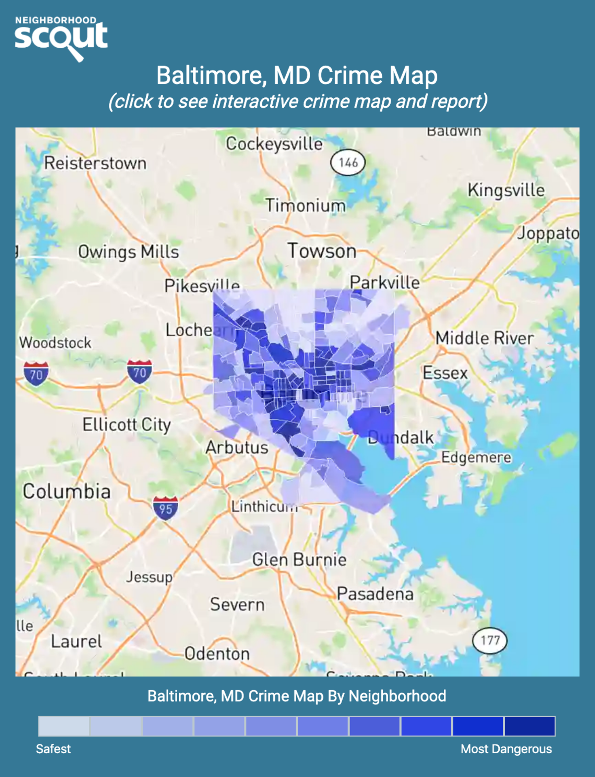Baltimore, Maryland crime map