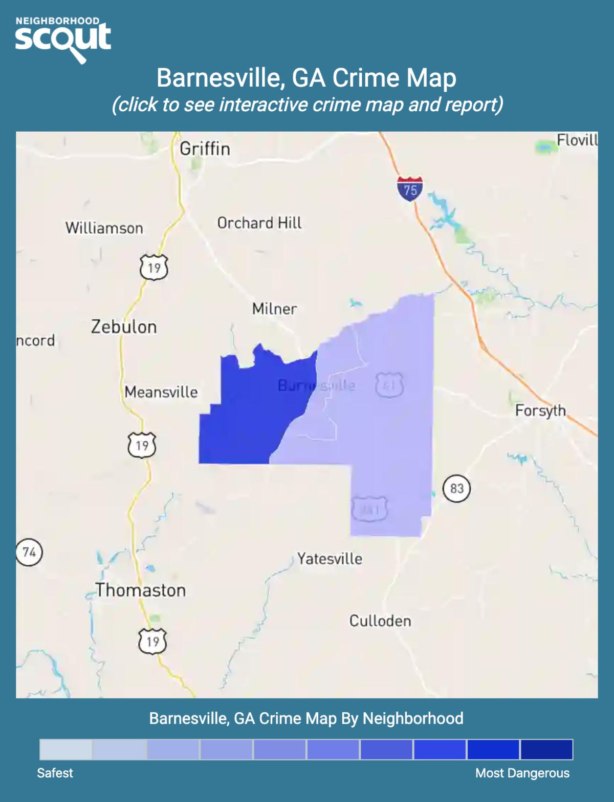 Barnesville, Georgia crime map