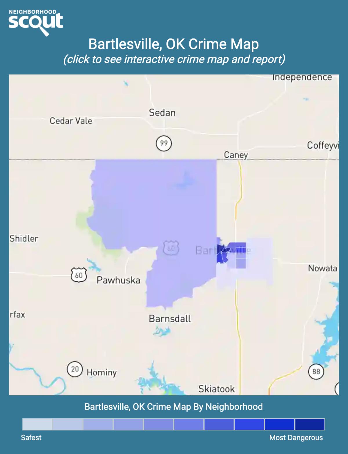 Bartlesville, Oklahoma crime map