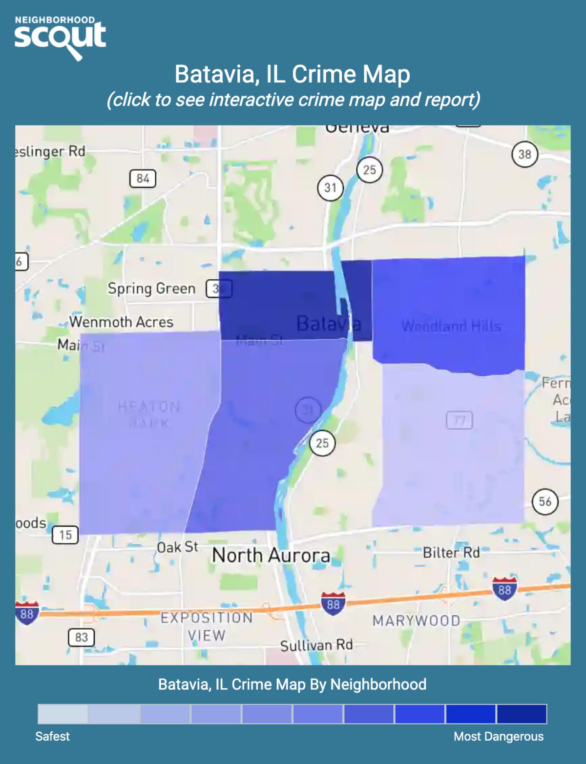 Batavia, Illinois crime map