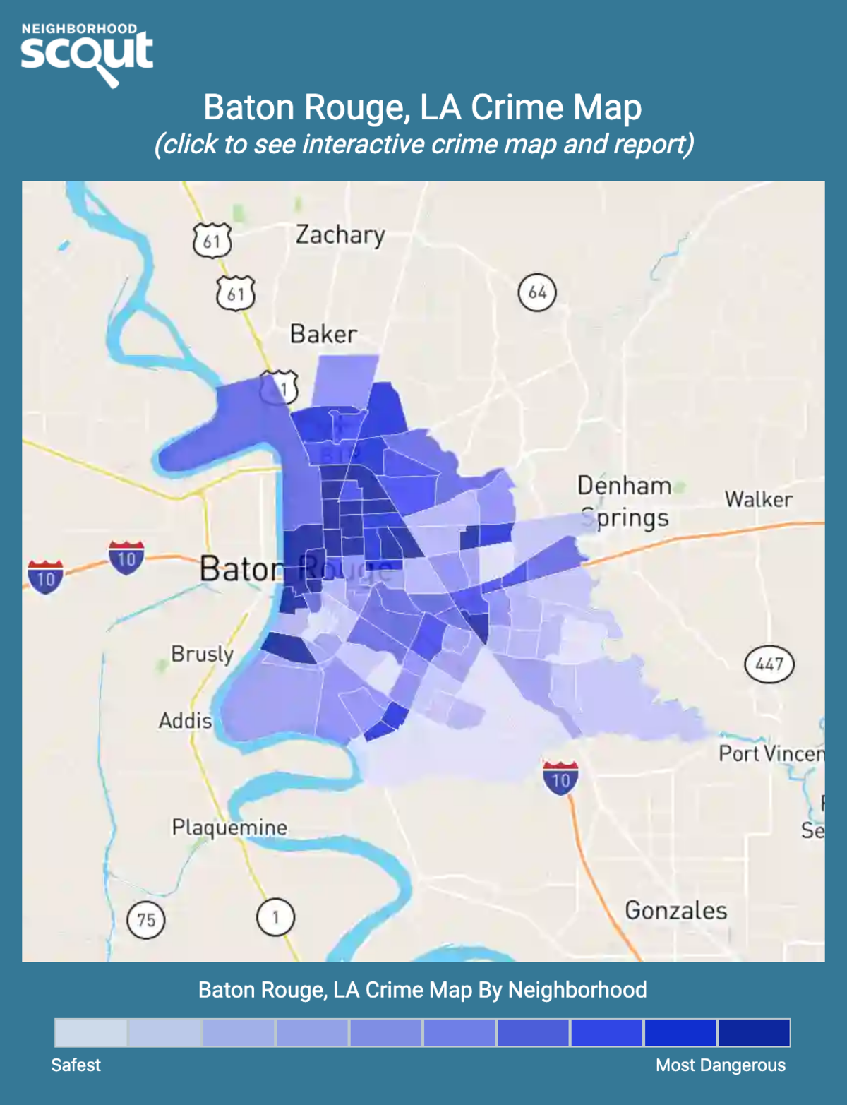 Baton Rouge, Louisiana crime map