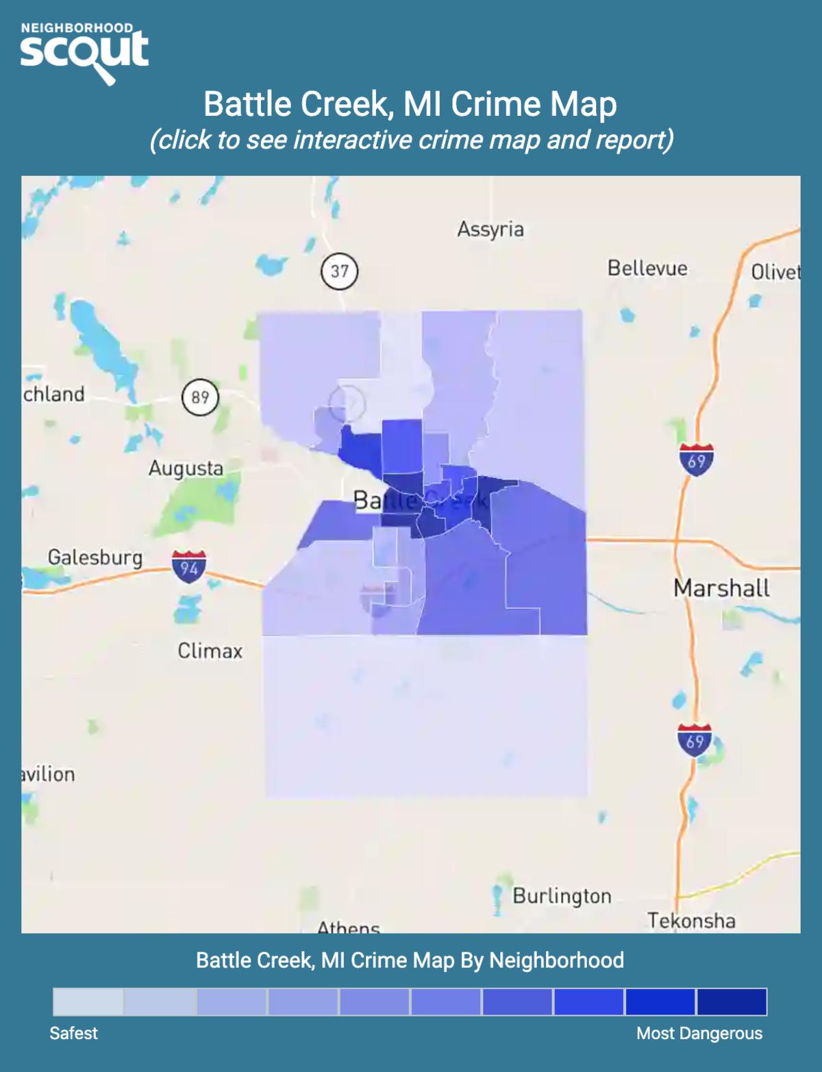 Battle Creek, Michigan crime map