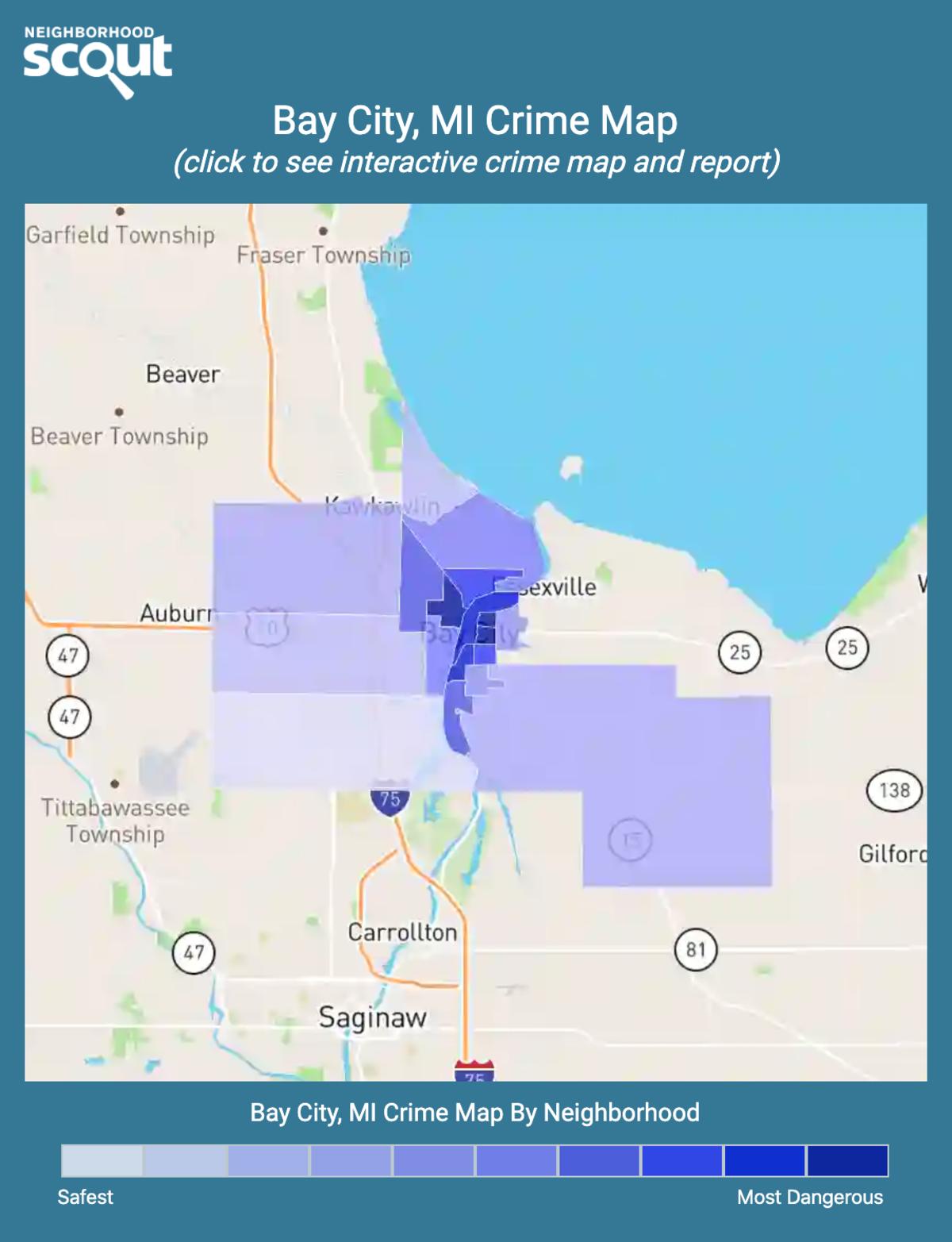 Bay City, Michigan crime map
