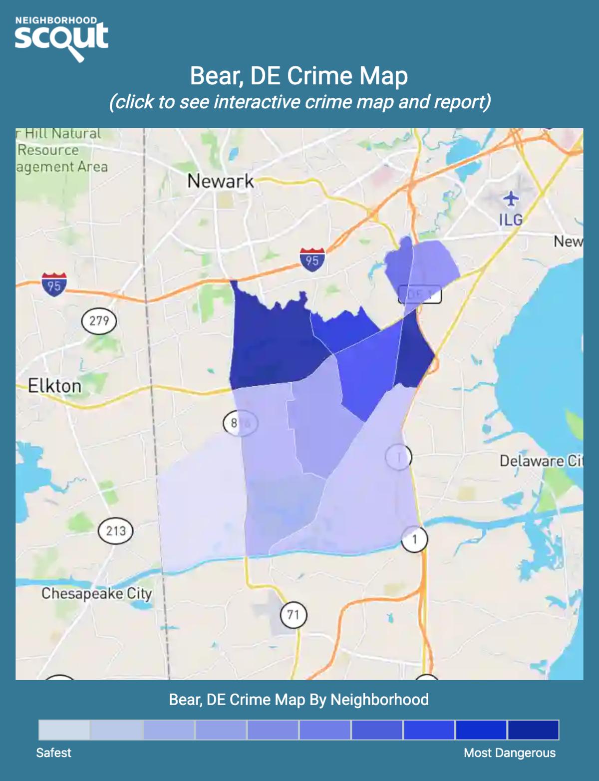 Bear, Delaware crime map