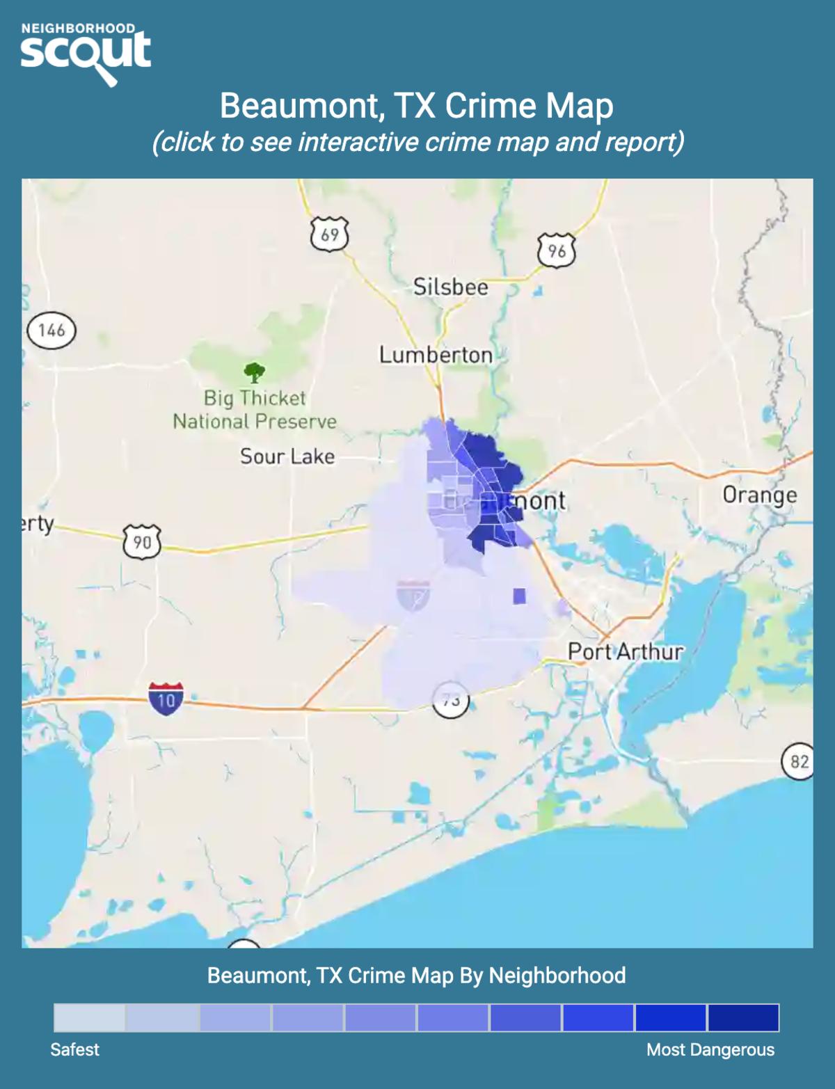 Beaumont, Texas crime map