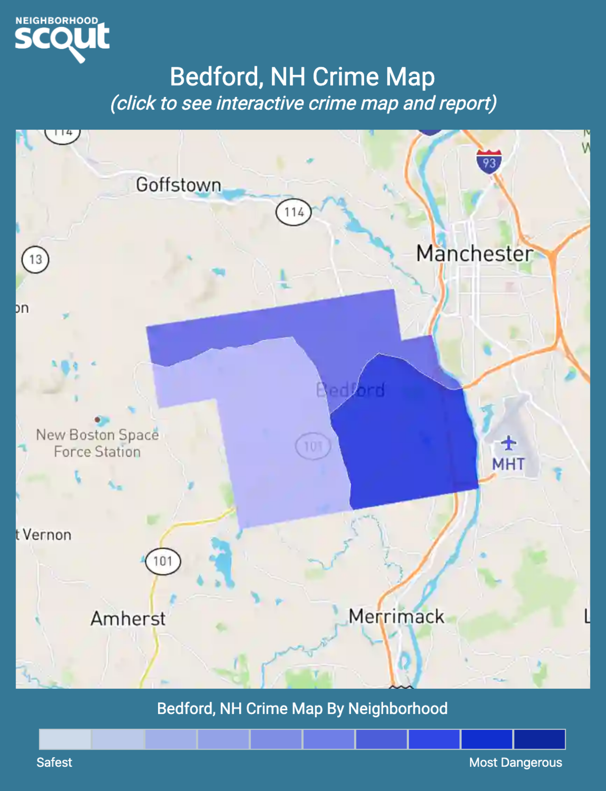 Bedford, New Hampshire crime map
