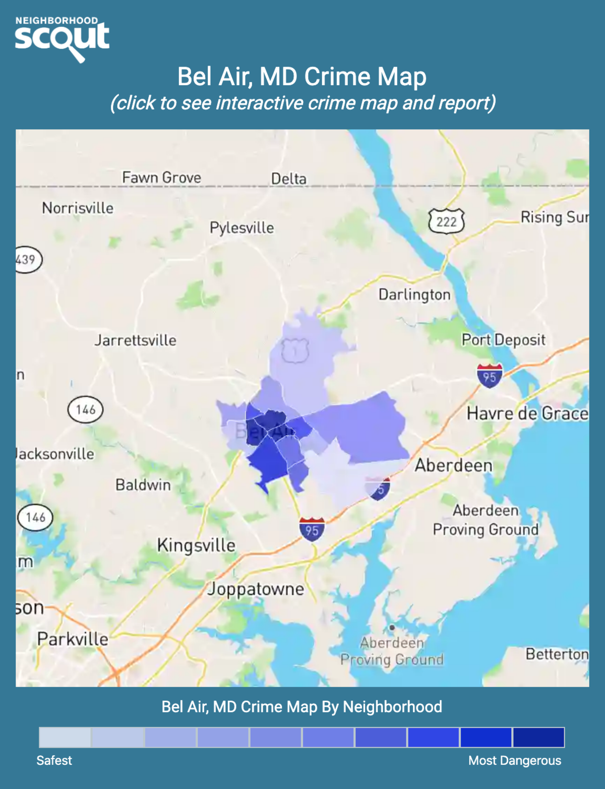 Bel Air, Maryland crime map