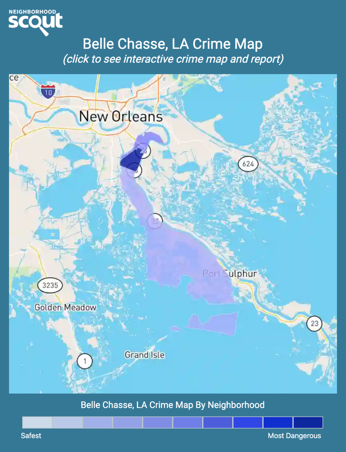 Belle Chasse, Louisiana crime map