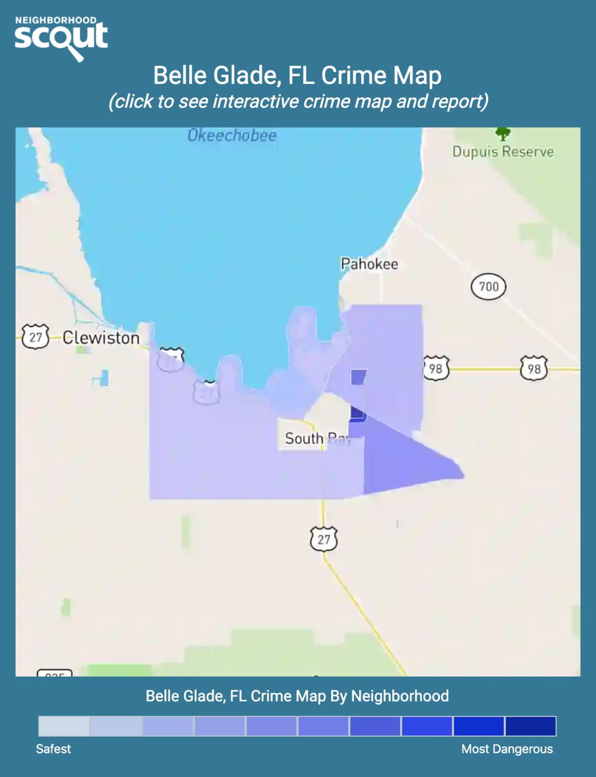 Belle Glade, Florida crime map