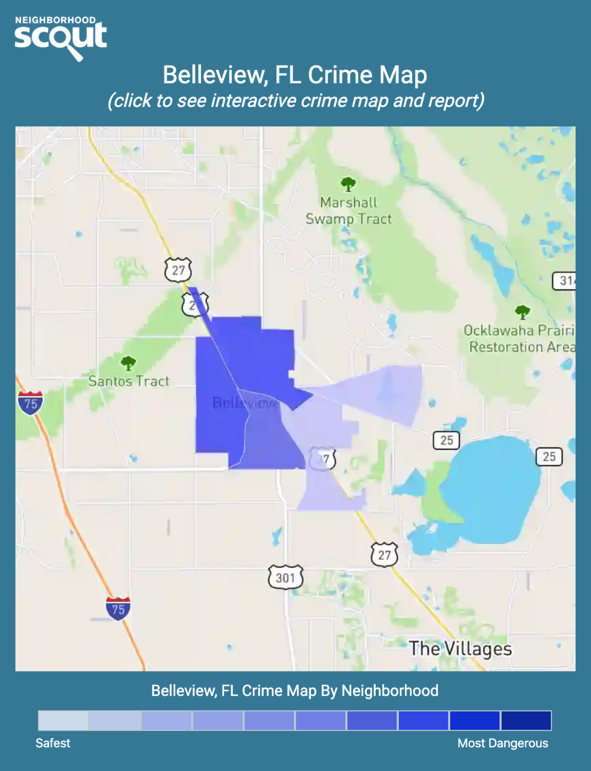 Belleview, Florida crime map