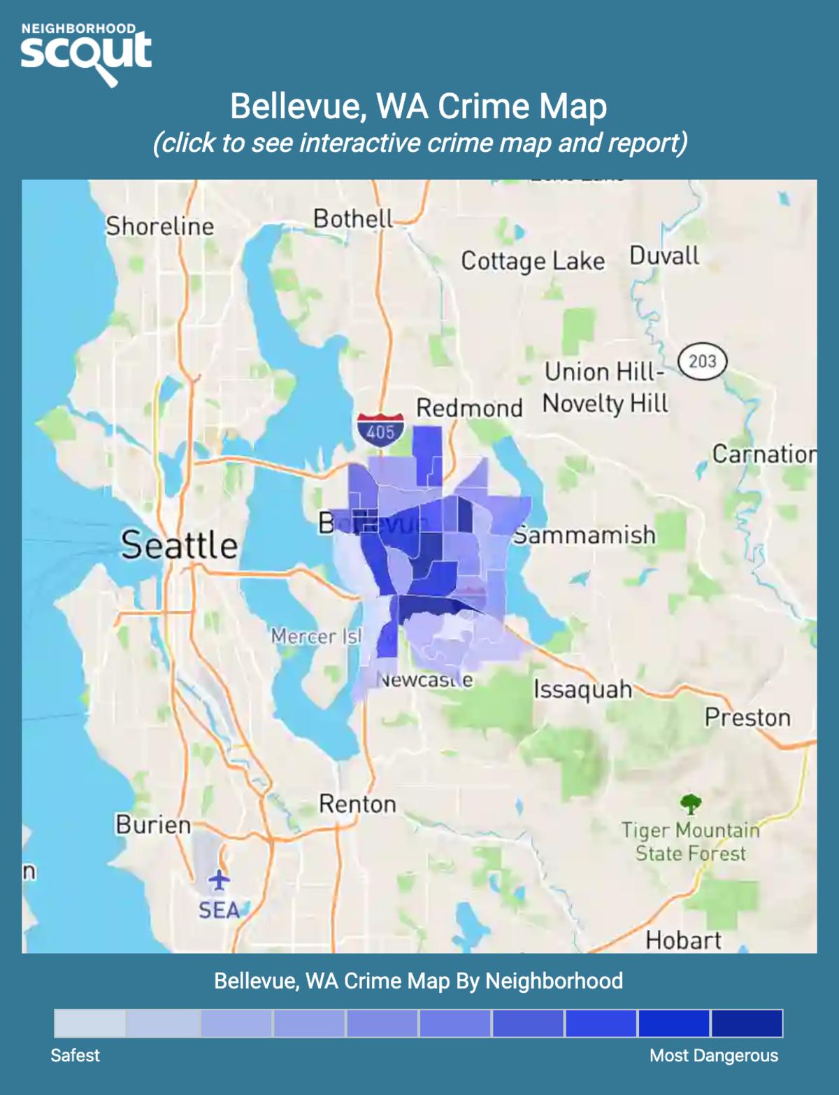 Bellevue, Washington crime map