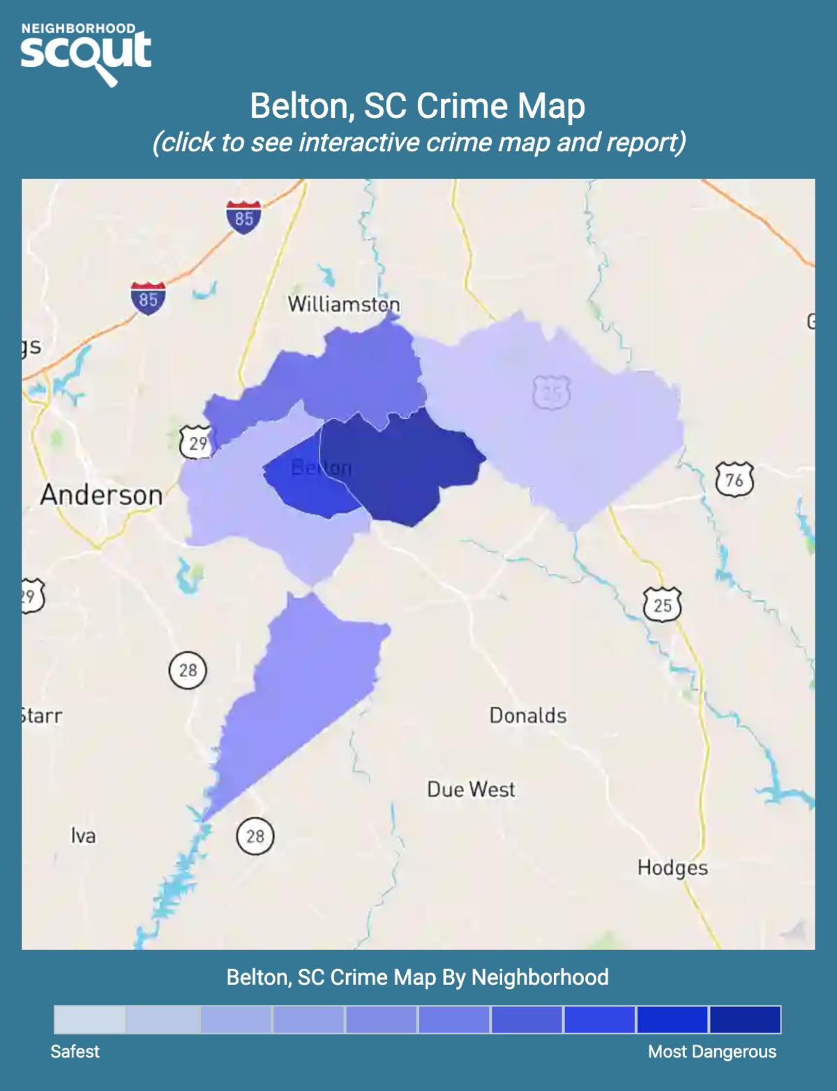 Belton, South Carolina crime map