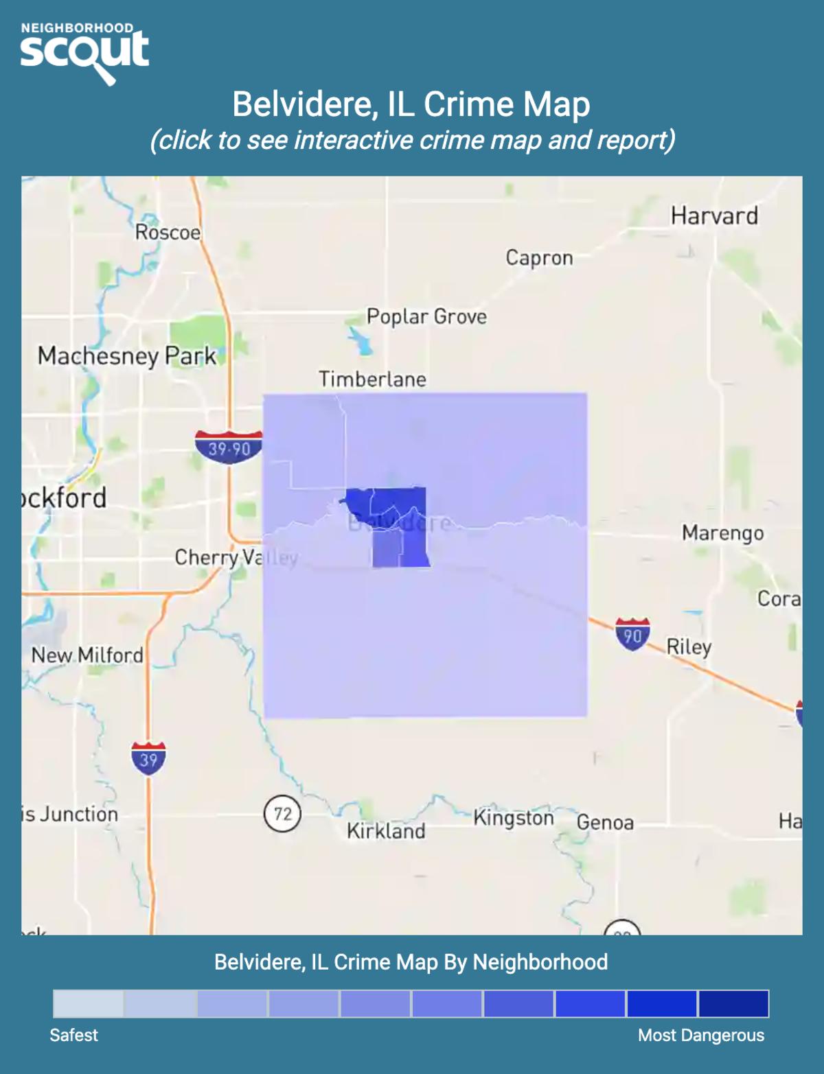 Belvidere, Illinois crime map