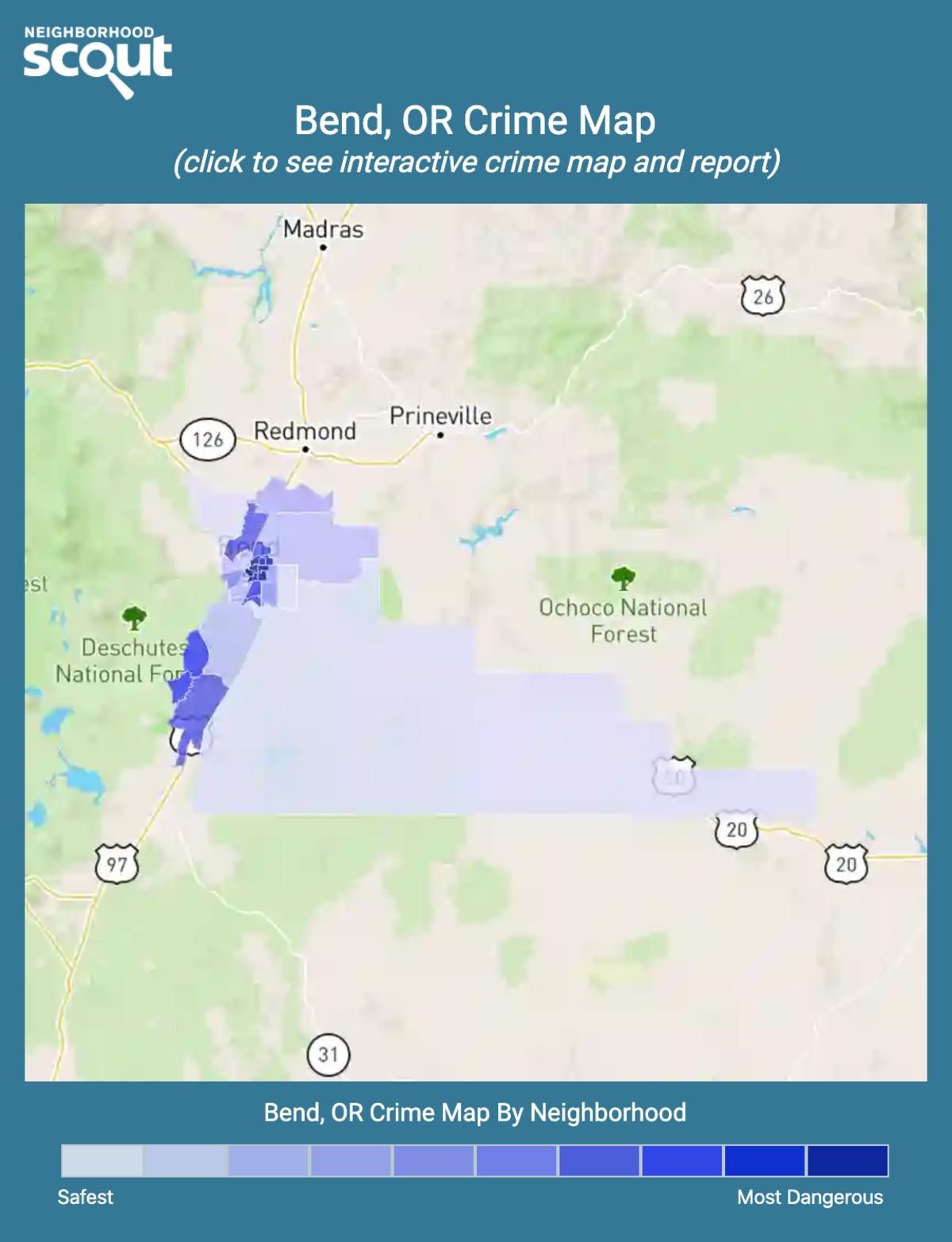 Bend, Oregon crime map