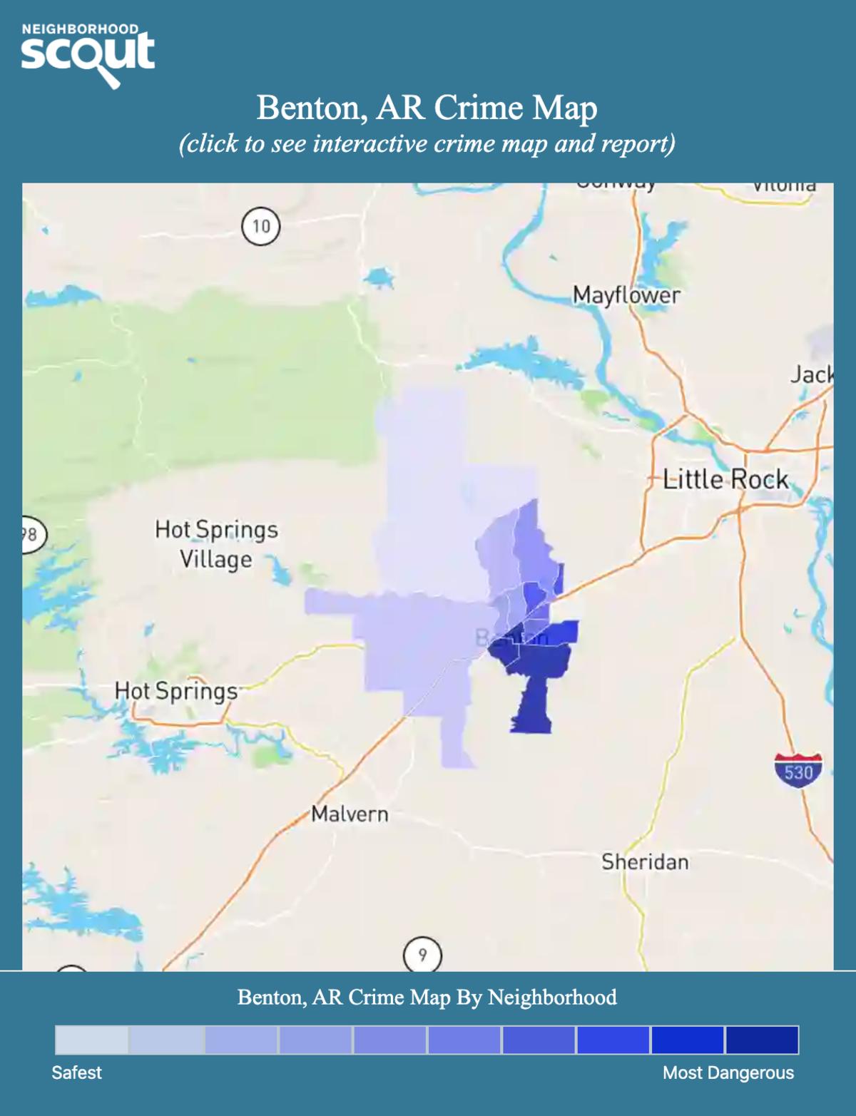 Benton, Arkansas crime map