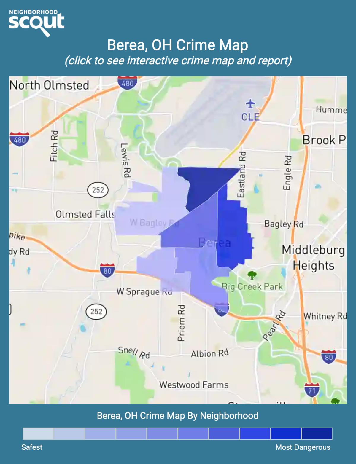 Berea, Ohio crime map