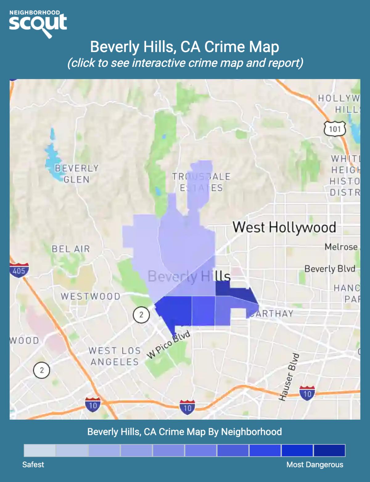 Beverly Hills, California crime map