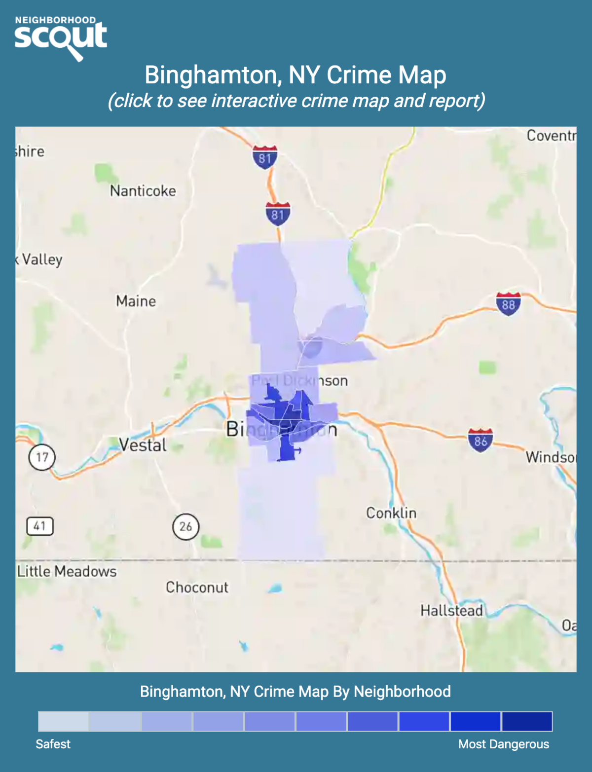 Binghamton, New York crime map