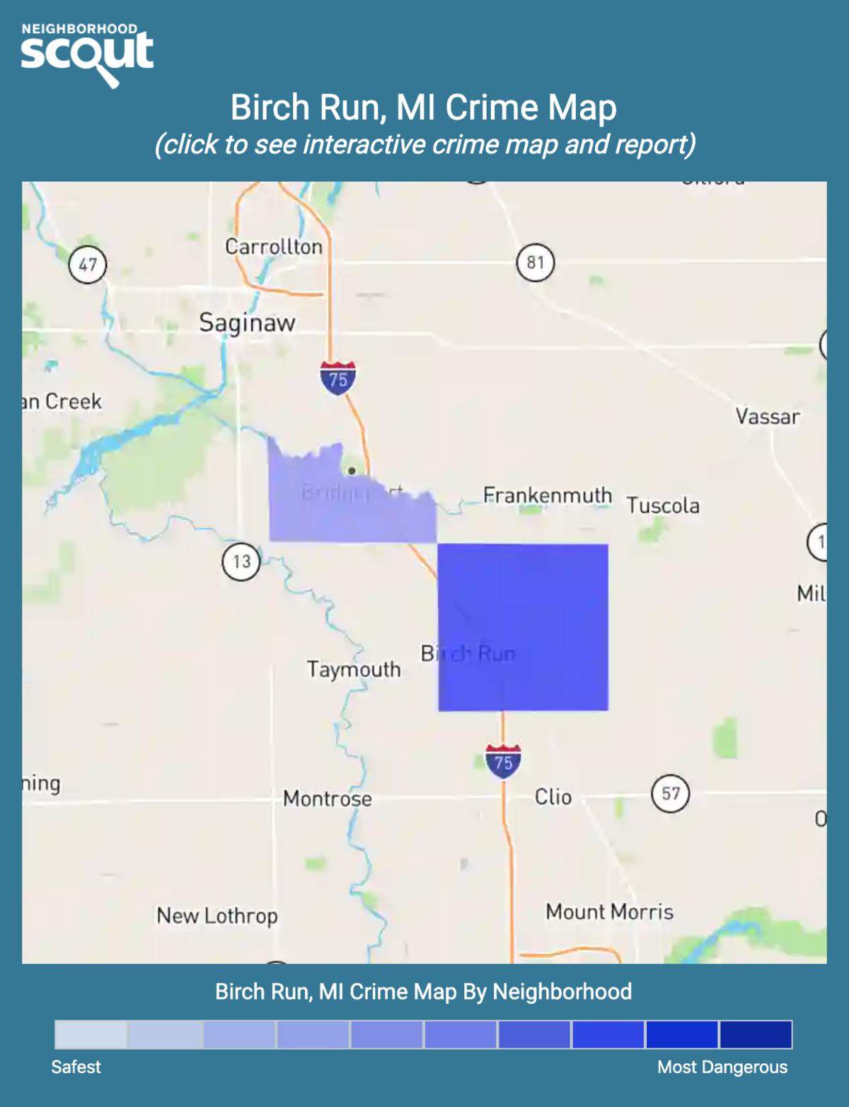 Birch Run, Michigan crime map