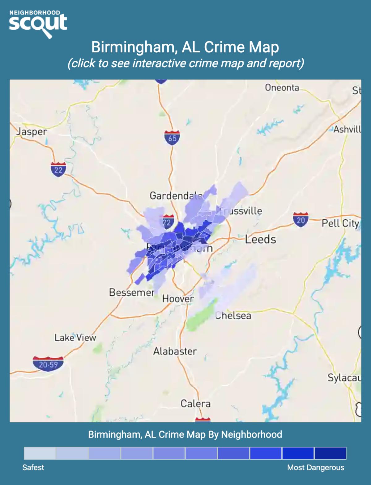 Birmingham, Alabama crime map