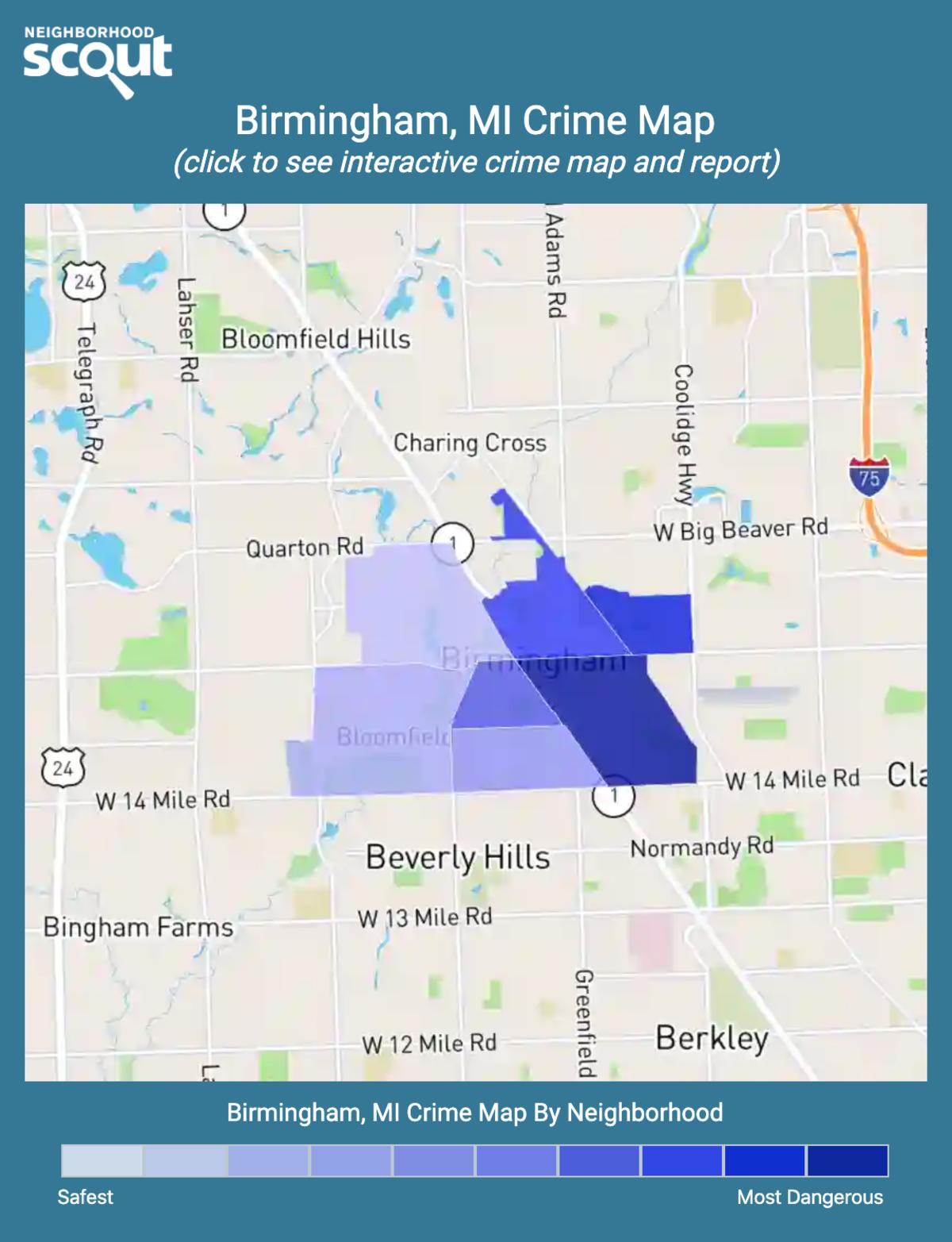 Birmingham, Michigan crime map