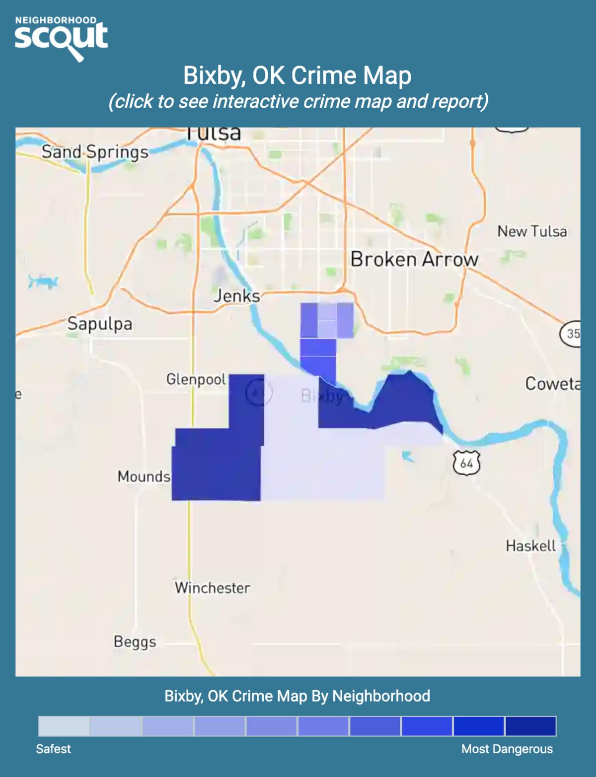 Bixby, Oklahoma crime map