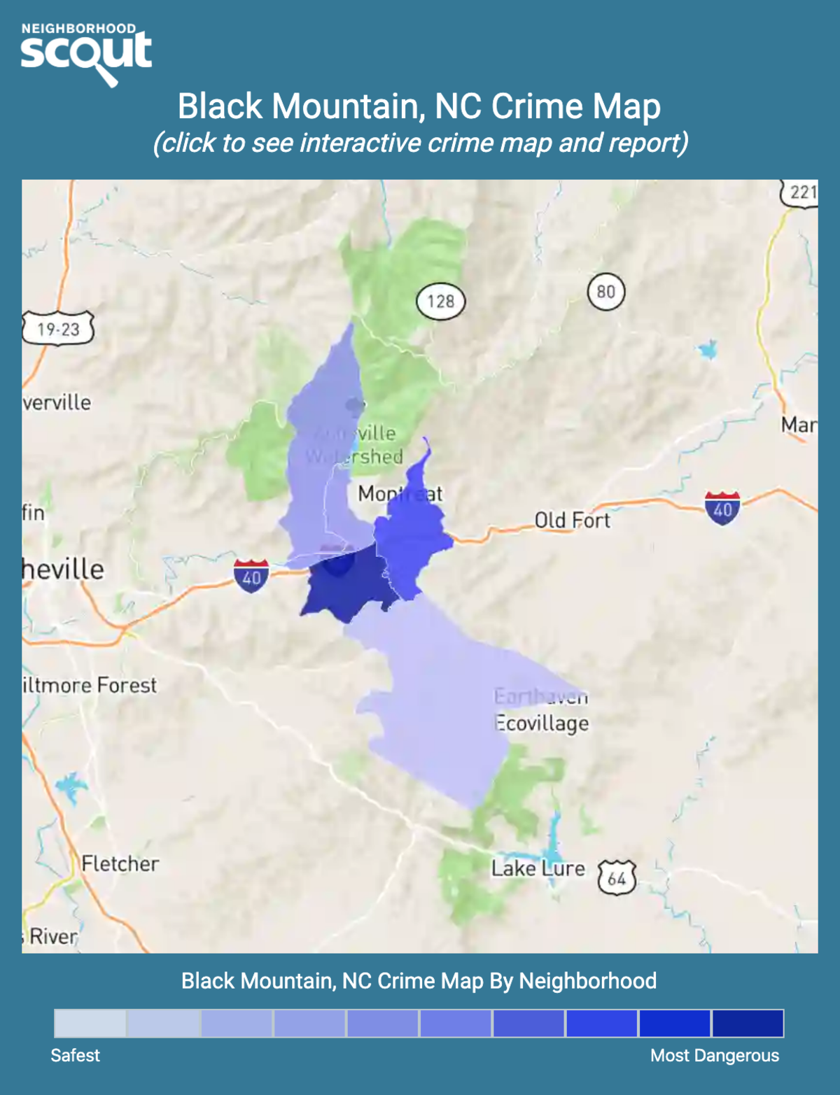 Black Mountain, North Carolina crime map