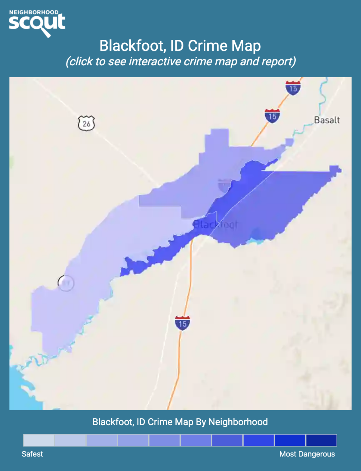 Blackfoot, Idaho crime map