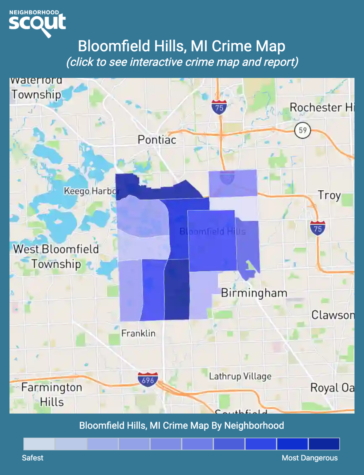 Bloomfield Hills, Michigan crime map