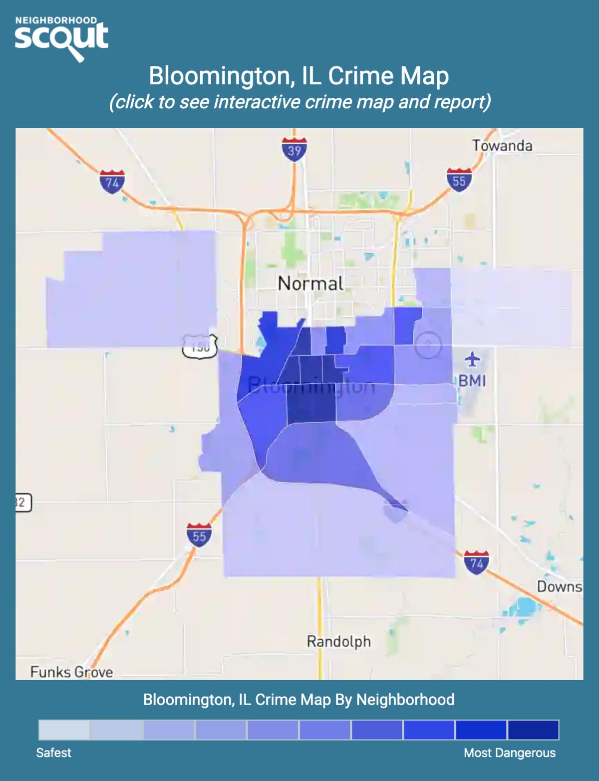 Bloomington, Illinois crime map